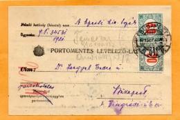 Hungary 1921 Card Mailed