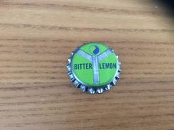 """Ancienne Capsule De Soda """"BITTER LEMON - GLASTONBURY"""" Etats-Unis (USA) (intérieur Liège) - Soda"""