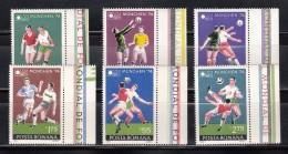 RUMANIA 1974 - CAMPEONATO DEL MUNDO DE FUTBOL MUNICH 74 - YVERT Nº 2846-2851 - Coppa Del Mondo