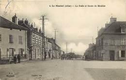 - Ref -M272 - Allier - Le Montet - La Poste Et Route De Moulins - Postes - Hotel Laronde - Hotels - Carte Bon Etat - - Autres Communes
