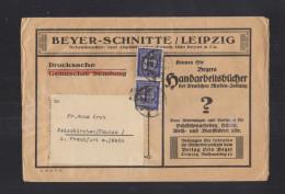Dt. Reich Brief 1922 MeF Beyer Schnitte Leipzig - Duitsland