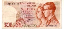 Belgium P.139  50 Francs 1966 Vf - [ 2] 1831-... : Regno Del Belgio