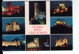 Q3675 Cartolina Della Valle D´ Aosta - Castelli Notturni: Fenis, Chatelard, St. Pierre, Aymavilles, Verres, Issogne... - Otras Ciudades