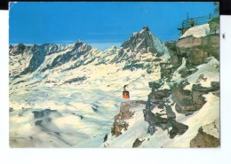 Q3678 Cartolina Della Valle D´ Aosta - Cervinia Vreuil, Arrivo FUNIVIA Del Plateau Rosa - Funiculaire, SEILBAHN - Other Cities