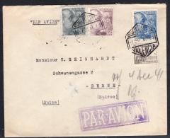 España 1941. Correo Aéreo De Valencia A Berna. Censura. - Marcas De Censura Nacional