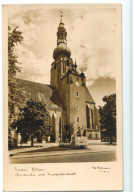 12928 Cpa   BADEN Bei WIEN  : Pfarrkirche Mit Kriegerdenkmal , Carte Photo !! - Baden Bei Wien