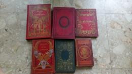 LOT 6 Livres Anciens Histoire VIVE LA PATRIE JEUNE TAMBOUR AMIS DE L'HUMANITE GLOIRES MILITAIRES VIEUX GUERRIER PATRIOTE - Lots De Plusieurs Livres