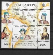 1992 MNH Cept Cyprus Turkish - Europa-CEPT