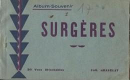 CPA - SURGERES - CARNET DE 20 VUES - Rues Et Batiments De La Ville - Edition Gravelat - Surgères