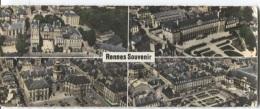 CPSM - RENNES - CARTE PANORAMIQUE - Edition LAPIE ...En Avion Au Dessus De - Rennes