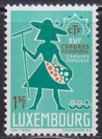 4878. Luxembourg 1967 XVI Congress Of Gardening, MNH (**) Michel 756 - Luxembourg
