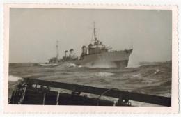"""TRANSPORTS MILITARIA GUERRE CARTE PHOTO BATEAUX CUIRASSE PAQUEBOTS A VAPEUR : """" N° 93 """" Paquebot 3 Cheminées - Warships"""