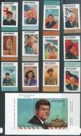 Montserrat   1998   Sc#933-45  Famous People Set Of 12 & Souv Sheet  MNH**  2016 Scott Value $32.75 - Montserrat