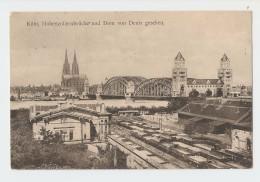 Köln, Hohenzollernbrücke Und Dom Von Deutz Gesehen. - Non Classés