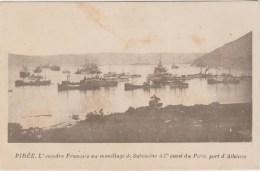PIREE - L'ESCADRE FRANCAIS AU MOUILLAGE DE SALAMINE A L'OUEST DU PIREE - PORT D'ATHENES - Grecia