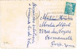 O.MEC FLIER VICHY CHAMPIONNAT MONDIAL MAITRES D'ARMES EPEE SUR CPSM - Marcophilie (Lettres)