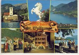 1000 Jahre ST. WOLFGANG; 1994 Mehrbildkarte M. Hotel Weisses Rössl, Wolfgangsee .... - St. Wolfgang