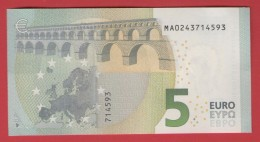 PORTUGAL - 5 EURO M002D6 DRAGHI - M002 D6 - MA0243714593 - UNC NEUF - FDS - EURO