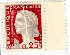 M. De Decaris (1263**) - Accidents D'impression Et De Tirage - 1960 Maríanne De Decaris