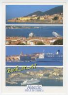 {75222} 20 2A Corse Du Sud Ajaccio , Multivues ; La Vieille Ville Et Le Port Vus De La Mer - Ajaccio