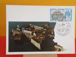 FDC Carte Maxi- Musée De L'Atlantique Port Louis - 56 Port Louis - 4.12.1976 - 1er Jour, Coté 3 € - Cartoline Maximum