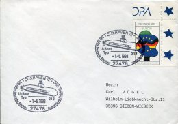 13280 Germany, Special Postmark 1998  Cuxhaven,  U-boot   Submarine,