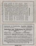 Bücherkarte 1921 + 2 Visitenkarten Sihe Scan - Bücherkarte Und Bescheinigung D.Zentralvereins D.Kaufm.Angestellten ... - Historische Dokumente