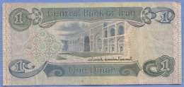 ONE DINAR Aus IRAQ, Gebrauchte Alte Banknote In Guten Zustand - Irak