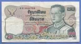 20 BATH, Banknote Aus Thailand In Gebrauchten Zustand - Thailand