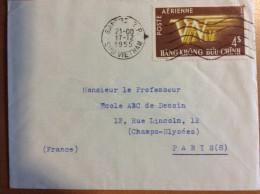 Lettre De SAIGON INDOCHINE VIET NAM DE 1955 VIETNAM POUR LA France - Viêt-Nam