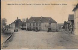 CPA Creuse écrite Village LAVAVEIX Les Mines - Francia