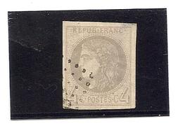 France N°41 B Obliteté Deuxieme Choix , Timbre Avec Un Clair - 1870 Bordeaux Printing