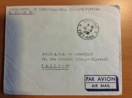 Lettre De TOURANE INDOCHINE VIET NAM DE 1952 VIETNAM POUR LA France - Viêt-Nam