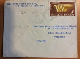 Lettre De VINHLONG INDOCHINE VIET NAM DE 1954 VIETNAM POUR LA France - Viêt-Nam
