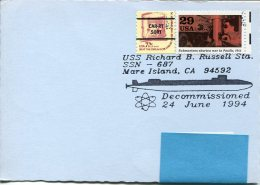 13300 U.s.a. Special Postmark 1994  Atomic Submarine,  U-boot  Sousmarin