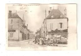 CPA 18 SAINT FLORENT Grande Rue Animation Maisons Clocher 1903 - Saint-Florent-sur-Cher