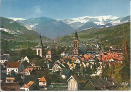 """CPSM MUNSTER  - HAUT RHIN """" La Ville Et La Chaine Des Vosges 1977 """" - Munster"""