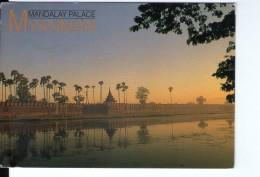 Q3758 Postcard: MYANMAR - MANDALAY PALACE + NICE STAMP - BIRMANIA, BURMA - Myanmar (Burma)