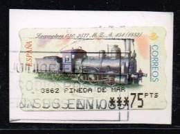 Spanien ATM, Michel# AT 54 O Locomotive Hartmann 030-2577, M.Z.A. 454 (1882) - Trenes