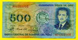 *** PERU  PEROU *** 500 Soles De Oro - Perú