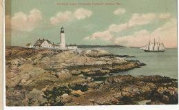 Portland Light , Entrance Portland Harbor , Maine , Phare , Sailing Ship - Portland