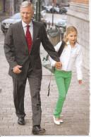 PHILIPPE  Le Roi...    Accompagne Sa Fille Elisabeth à L'école - Koninklijke Families