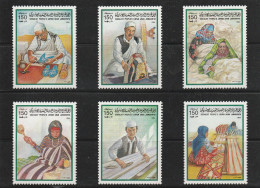 LIBYE 1984 - N° 1349 à 1354 - Neufs** (Artisanat) Série Complète - Libya