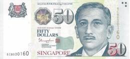 SINGAPORE 50 DOLLARS ND (8.2015) P-49a AU/UNC STAR ON BACK. [SG205h] - Singapore