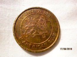 Ethiopia Token 5 Cents American Club (rare) - Other