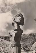 Iles De La Société  - Sculpture Polynésienne - Scan Recto-verso - Polynésie Française