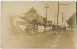 Real Photo Los Funerales De La Madre De Jose Rizal Manila 19 Agosto 1911  Bus Advert Germinal Cigar Factory - Philippinen