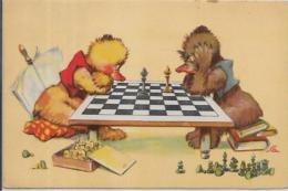 CPA Carte Ancienne 9X14 échecs Chess Non Circulé - Chess