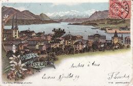97 Gruss Aus Luzern 1899  ( Pli Légère Droite, Leichte Falte Rechts) - BE Berne