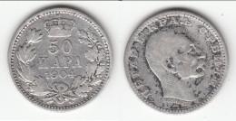 **** SERBIE - SERBIA - 50 PARA 1904 PETER I - ARGENT - SILVER **** EN ACHAT IMMEDIAT - Serbie